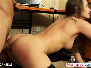 Office babe Dani Daniels take hard-on