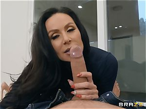 aged brown-haired cutie Kendra enthusiasm riding prick