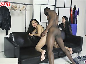 pornography star bangs Random first-timer fellow With wifey Filming