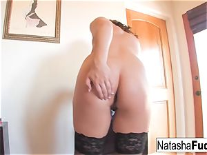Natasha pounds Her culo With a Purple toy