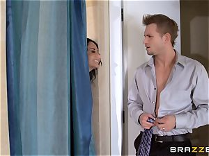 huge breasted Ava Addams cheats in the douche