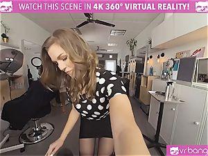 VRBangers.com Hairdresser Ella plowed stiff and facial
