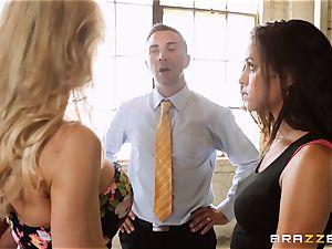 Brandi love lets ho-bo Abbey Lee Brazil screw her dude