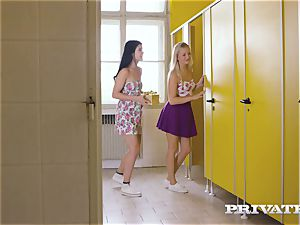 Private.com - lezzie three way in the wc