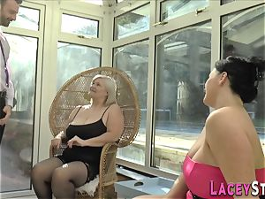 brit granny rides face