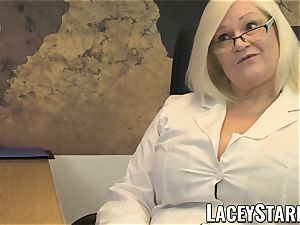 LACEYSTARR - GILF licks Pascal white jism after fuckfest