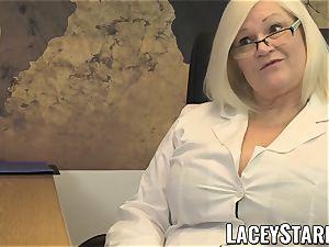 LACEYSTARR - GILF licks Pascal white jism after fuckfest