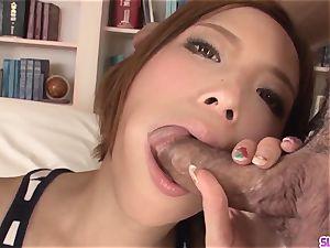 Ena Ouka gets older man to deep pound her little cooch
