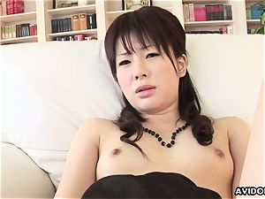 stylish japanese idol playthings her humid labia for the camera