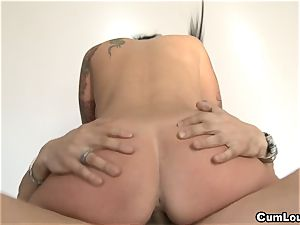 Jenny wants all your molten cum inside her gullet