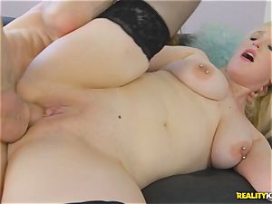 uber-sexy chesty light-haired Brick Danger banged deep in her gorgeous muffhole