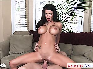 big-chested wife Peta Jensen railing hard-on
