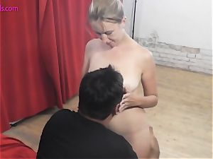 blond lusts for jizz-shotgun