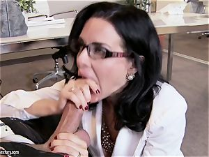 milf meatpipe throating in the office