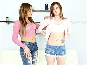 Alaina Dawson has her first-ever lesbo experience with Christiana Cinn