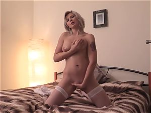 QuestForOrgasm - Solo pornography with thick hooters czech blonde