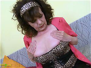 OldNannY furry grandmother puss frolicking masturbation
