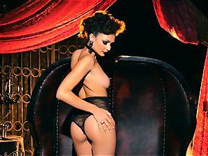 slender petite Ariana Marie fantastic rubber solo masturbation