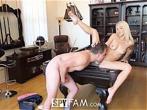 SpyFam Stepmom Laura Bentley plows stepson