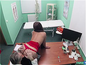fake medical center marvelous culo patient with bald snatch