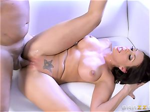 Rachel Starr humping her husbands super-steamy suited chief
