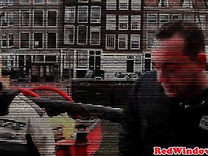 Amsterdam prostitute gets cumshowered