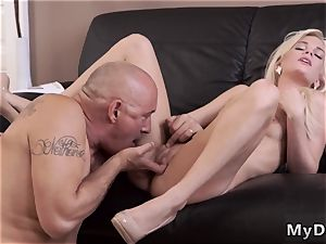 mummy seduces young man sausage super-naughty platinum-blonde wants to attempt someone lil' bit more