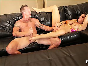 Kristal ending up with jizz in her milf cunny