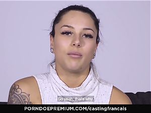 casting FRANCAIS - wonderful unexperienced first porno pulverize