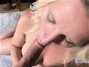 Devon Lee is lovinТ her man's crop wedged in her saucy gullet