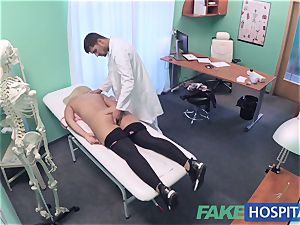 FakeHospital huge-titted Russian babe gulps cumload