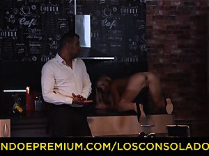 LOS CONSOLADORES - Hungarian blondie gets banged point of view