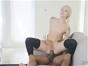 Elsa Jean takes on a hefty big black cock