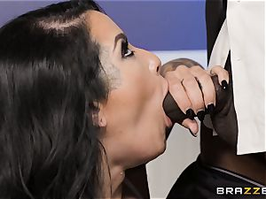 Katrina Jade boinked sack deep in the cunt by dark-hued fuckpole
