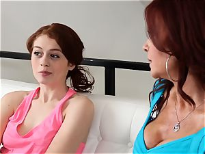 SEXYMOMMA - ginger-haired stepmom asslicking teenagers mouth-watering bunghole