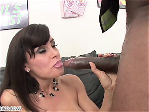 multiracial porno with mature sweetie Lisa Ann with humungous titties