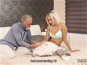 DADDY4K. gal rides aged gent s joystick in parent porno video