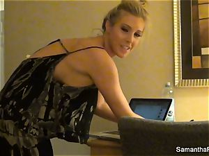 Behind the episodes with blonde sex industry star Samantha Saint
