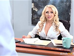 fantastic office stunner Alix Lynx takes a second helping