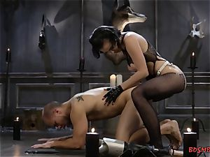 wild domme Pegging Her pucker