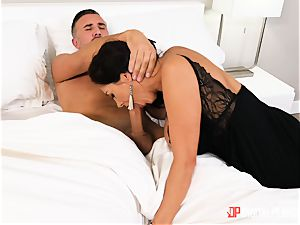 Ava Addams messing around with married strung up Keiran Lee