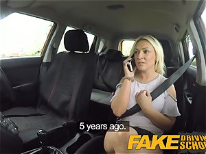 super hot ash-blonde takes rod in the back seat