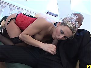 scorching blondie enjoys her backside jammed