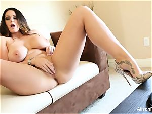 giant boobed beauty Alison Tyler plays with her vagina