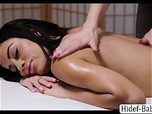 red-hot masseuse Darcie Dolce rubdown Victoria plump so romantic and munches her labia