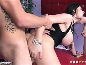 inebriated cougar Eva Karera with immense breasts indulges on the party