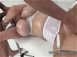 girl Sonia Mature honey lubed Up And blowing salami