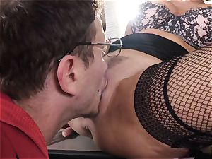 blasting dark-haired Veronica Avluv vagina wedged and fisted
