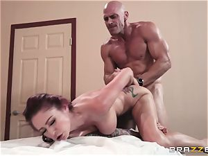 Monique Alexander crammed nads deep in her tight muffhole