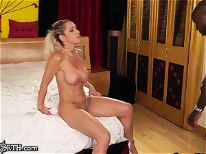 big-titted buttfuck cougar Nadia North vs. MANDINGO's hefty cock
